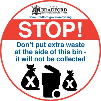Where residents continue to present excess or uncontained waste extra waste not in the bin overloaded bins lid not closed or too heavy